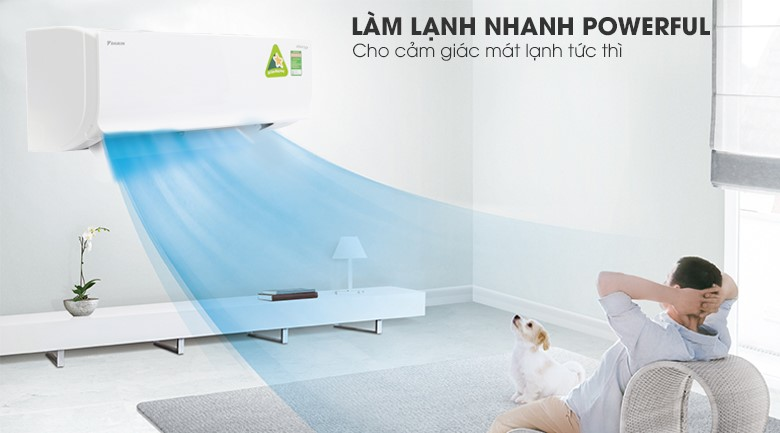 Powerful - Máy lạnh Daikin Inverter 1.5 HP ATKC35TAVMV