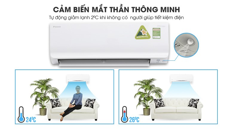 Intelligent Eye - Máy lạnh Daikin Inverter 1.5 HP ATKC35TAVMV